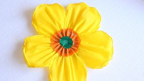 Yellow paper flower stock footage