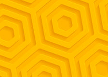 Yellow paper geometric pattern, abstract background template for website, banner, business card, invitation Royalty Free Stock Photography