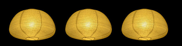 Yellow paper lamp Asia style Stock Photos