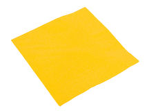Yellow paper napkin Royalty Free Stock Images