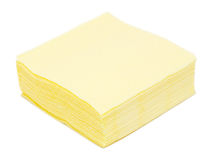Yellow paper napkins Royalty Free Stock Photo