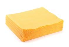 Yellow paper napkins Royalty Free Stock Photo