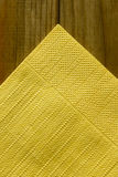 Yellow paper napkins Stock Photography