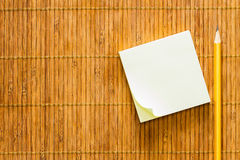 Yellow Paper Note Royalty Free Stock Photos