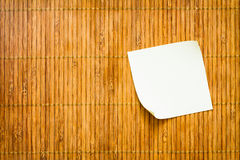 Yellow Paper Note Royalty Free Stock Photography