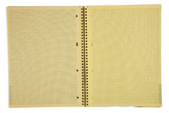 Yellow paper notebook Royalty Free Stock Photography