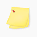 Yellow paper notes Stock Image