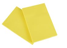 Yellow paper pads - isolated Stock Photography