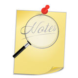 Yellow paper with pin on white background vector Stock Photos