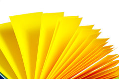 Yellow paper records Stock Image