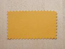 Yellow paper sample Royalty Free Stock Photo
