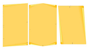 Yellow paper scroll Stock Photography
