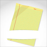 Yellow paper sheet. The yellow paper sheet in folder by illustrations eps10 Royalty Free Stock Image