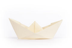 Yellow paper ship Stock Photos