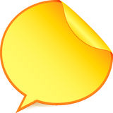 Yellow paper speech bubble sticker Stock Photo