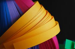 Yellow paper strips Stock Photography