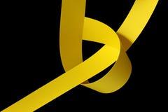Yellow paper strips Stock Photo