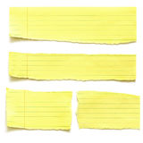 Yellow Paper Tears Royalty Free Stock Photo