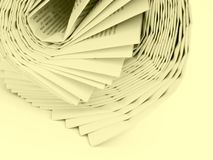 Yellow papers Royalty Free Stock Image
