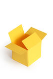 Yellow papery box Royalty Free Stock Image