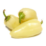 Yellow paprika. Isolated on the white background Royalty Free Stock Photos