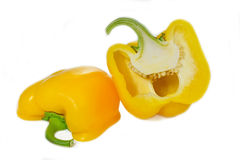 Yellow Paprika peppers Stock Images