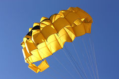 Yellow Parachute. Background possible to use for printing and project Stock Images
