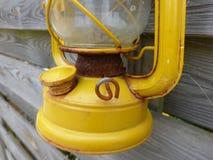 Yellow paraffin lamp Stock Image