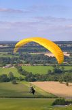Yellow paraglider Royalty Free Stock Photo