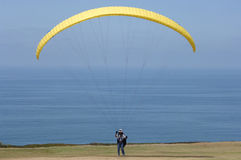 Yellow Parasail Royalty Free Stock Image