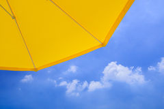 Yellow parasol Royalty Free Stock Image