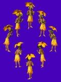 Yellow Parasol vector illustration