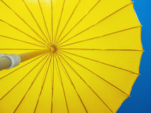 Yellow parasol Stock Photography