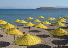 Yellow parasols Royalty Free Stock Photos