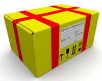 Yellow parcel Stock Photography