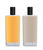 Yellow Parfume bottles Stock Photo