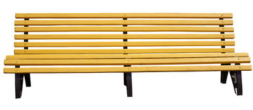 Yellow park bench . Royalty Free Stock Photography