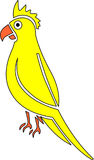 Yellow parrot. Illustration of yellow artistic parrot Vector Illustration