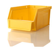 Yellow parts bin Stock Images