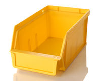 Yellow parts bin Royalty Free Stock Images