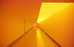 Yellow passage interior Royalty Free Stock Images