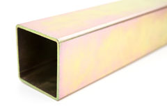 Yellow passived square tube Stock Photography