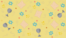 Yellow Passover. Repetitive pattern of Passover symbols. Eps10 Royalty Free Stock Photos