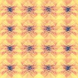 Yellow pastel abstract geometric background pattern. Triangles stripes lines floral abstraction Stock Photo