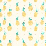 Yellow Pastel Color Pineapple Seamless Pattern royalty free illustration
