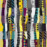 Yellow patchwork pattern Stock Image
