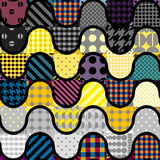 Yellow patchwork pattern Stock Photos