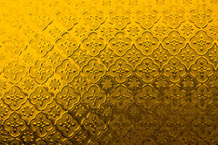 Yellow pattern Stock Image
