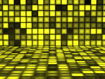Yellow pattern made out of Light Cubes Stock Image