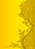 Yellow pattern of roses Royalty Free Stock Images